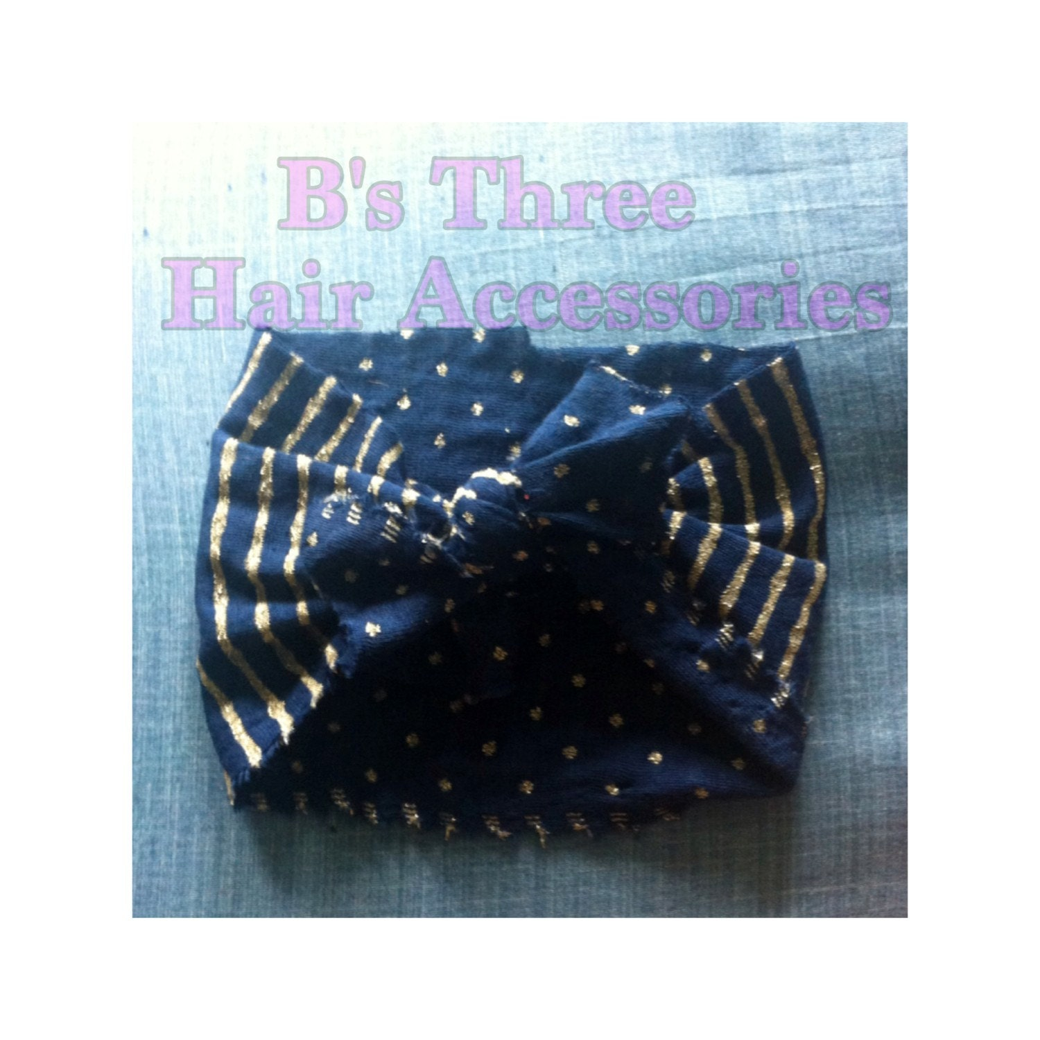 Stripes and Stars Head Wrap by BsThreeAccessories on Etsy