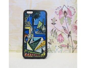 Mediterranean Landscape (Picasso) - Rubber iPhone Case