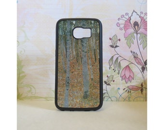 Forest of Beech Trees (Klimt) - Rubber Samsung Galaxy S3 S4 S5 S6 Case