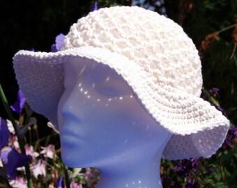Crochet cotton sun hat, Crochet summer hat, Womens sun hat, Floppy sun hat with brim, Crochet hat, Cotton hat, Summer hat, Beach hat