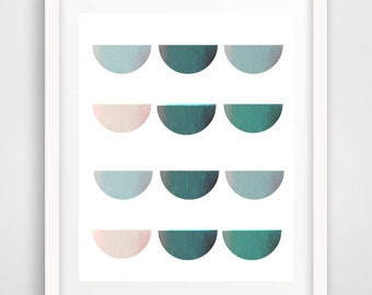 Abstract Print, Printable Art, Abstract Art print, Mid Century Art, Retro Printables, Instant Download, Modern Wall Art