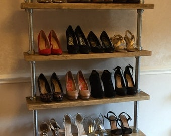 Urban industrial shoe/shop storage shelf