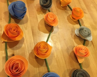 16 Piece Rose Garland - Approximately 20' long