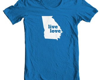 Georgia T-shirt - Live Love Georgia - My State Georgia T-shirt