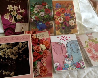 Assorted vintage greeting cards never used excellent condition early 60s mixed messages & blank 32 cards