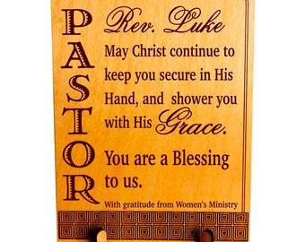 Pastor Appreciation Gift, Pastors' Gift from Women Ministry, Custom Pastor Gift, Reverend Gift, Gift for Pastor,Priest. PLP 047