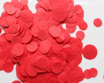 CONFETTI / RED confetti /  tissue paper confetti / wedding decorations / table decoration / wedding party confetti /  balloon confetti