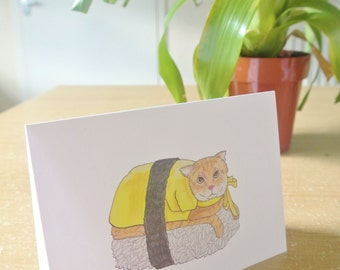 Sushi Cat Greeting Card