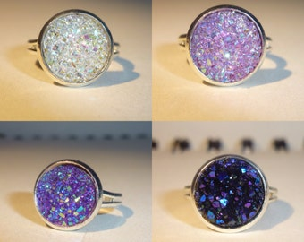 4 Styles of Druzy Rings (Set 2 of 3)