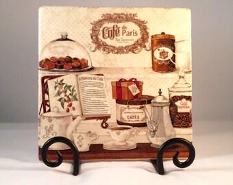 Cafe De Paris Brown Trivet (hot pad)