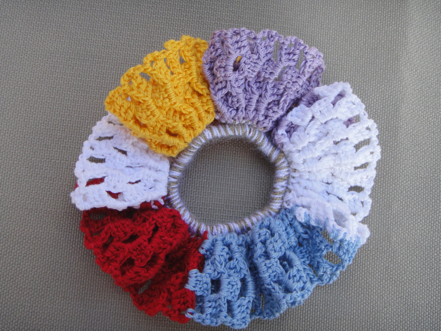 Crochet Hair Ties : Crochet scrunchie. Crochet hair ties. by Cre8tiveLifestyle on Etsy