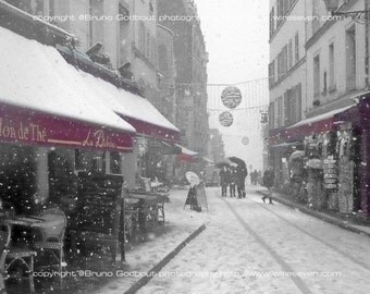 Montmartre sous la neige no. 1, Paris, FR  - 2010