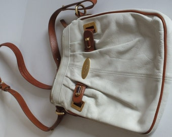 Brahmin cross body medium white purse