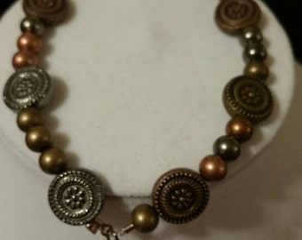 Copper,  bronze charm bracelet.