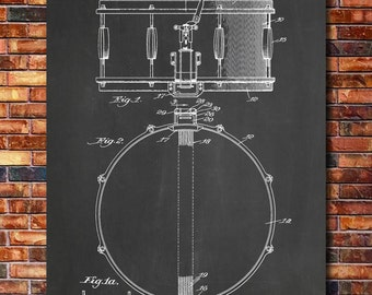 Snare Drum Patent Print Art 1939