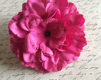 Soft Petal Fuchsia Peony, Pink Peony, Artificial Flower, Wholesale Flower, DIY Headband, Flower for Headband, Boutique Supplies