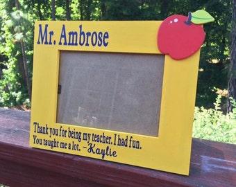 Custom teacher appreciation school frame, custom message.