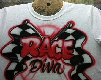 Airbrushed Race Mom Shirt