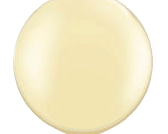 """Ivory Pearl 30"""" ROUND Balloons Party Decor"""