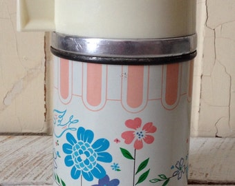 Thermos-Vintage 1960s Aladdin The Duchess Floral Flower Thermos