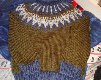 sweater turtlenecks Norwegian pattern for boys 10-12