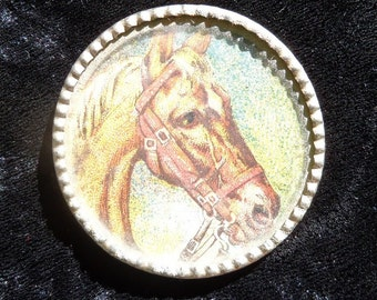 Antique Palomino Horse Lithograph Advertising Penny Toy Souvenir,Chicago, Ill.