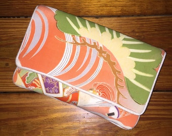 Silk Clutch in Re-purposed Obi Fabric, One of a Kind by {Sheila Davlin}