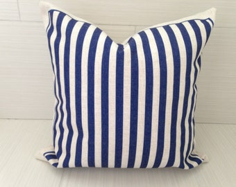 Navy Stripe Pillow Cover *ON SALE