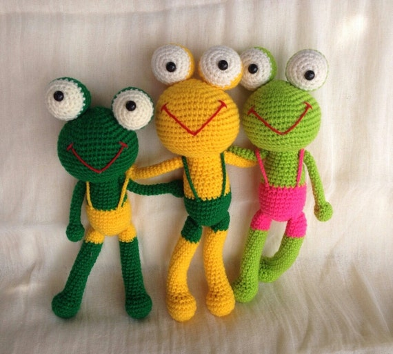 Amigurumi Frog Doll : New Amigurumi FROG frog frog animal doll doll Child by ...