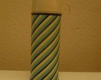 Thermos , Blue and Black stripped