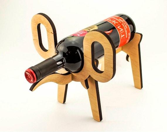 Wine bottle holder in the form of elephant wine rack wine - Elephant wine bottle holder ...