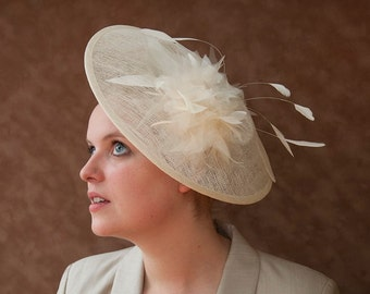 Fascinator Ivory Bride Hat 50s