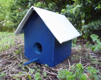 Miniature Birdhouse, Decorative Birdhouse, Garden Decor, Outdoor, Porch Decor, Decoration, Birdhouse, Bright, Gnome Home, Fairy Garden