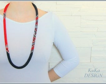 necklace Black & Red Urban Chic