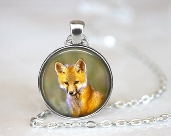 Woodland Fox Necklace, Fox Necklace, Fox Jewelry, Fox Pendant, Woodland Creature Jewelry