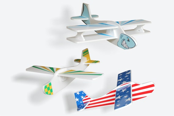Airplane toys, 3 Styrofoam gliders, Foam airplane, Funny game, Hand toy airplane, Flying airplanes, Hand launched aircrafts, Kids airplane