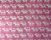 5 Yards Elephant Hand Block Print Fabric, Indian Cotton Fabric, Printed Cotton Fabric, Dabu Print Fabric, Printed Fabric, Block Print Fabric