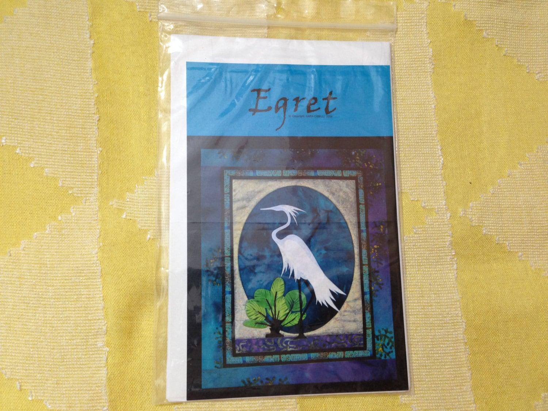 EGRET small batik wall hanging 18 x 22\