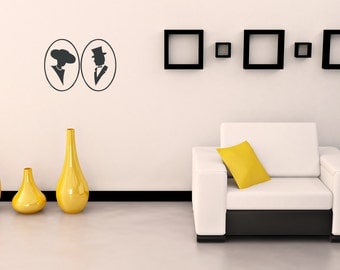 Cameo Silhouette Vinyl Wall Decal