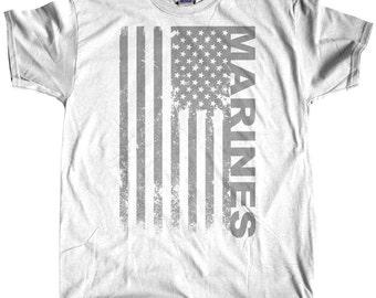 Marines Mens t shirt White, tee shirt, Military, Custom Printed Tee