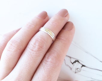 Simple Silver Ring 925 Silver Midi Ring 3 Lines Adjustable Open Knuckle Ring Stack Ring Multifinger Ring Ideal Gift