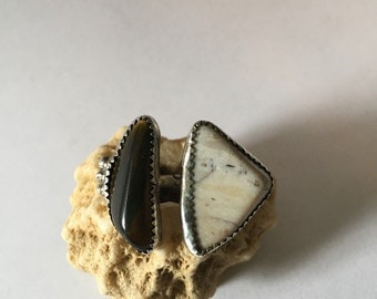 Two Stone Floating Ring size 8
