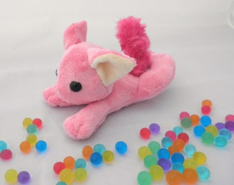 Pink Stuffed Cat, Cute Plush Kitty