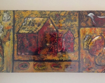 Mixed Media Original Painting By P. Degenhardt. See Description.