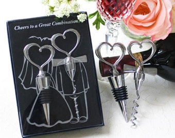 Vintage Romance - Wine Corksrew and Stopper (personalization possible)