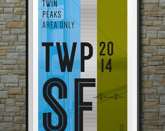 SF Muni Poster: Twin Peaks