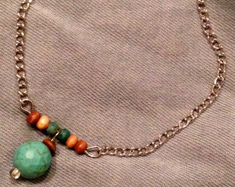 Boho beaded bracelet with repurposed beads