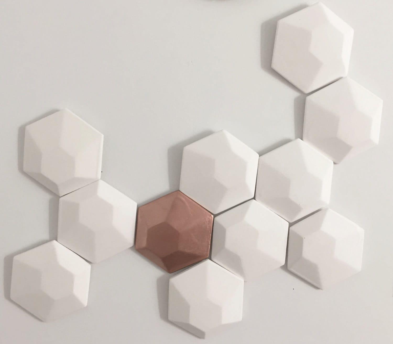 Wall Decor Hexagon : D wall art hexagon tiles