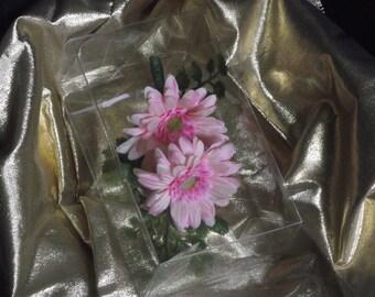 Buttonhole / Corsage / Boutonnière - silk gerbera - two highly realistic silk Gerbera & Maidehair Fern