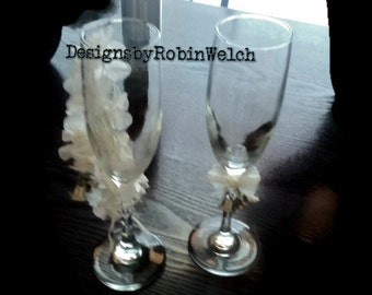 Wedding Flutes Etched to Order